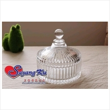 MINI SIZE EUROPEAN STYLE CRYSTAL GLASS JAR ( HIGH GRADE GLASSWARE )