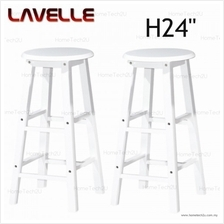 2 Units 24 ' LAVELLE Grade A Rounded Wooden Bar Stool