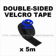 CABLE VELCRO TAPE DOUBLE-SIDED BLACK x 5m for Server Wire Tying Strap