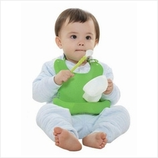 Soft Silicone Washable Waterproof Colorful Baby Neck Bib Eat Food