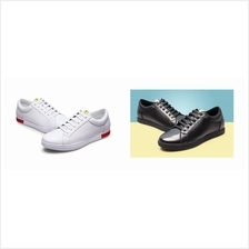 Men 6cm Invisible Height Increasing Shoes Sneakers Black / White