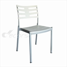 T&T Cafe / Dining Polypropylene Designer Chair Stainless Steel Base