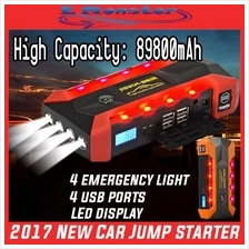 Car Jump Jumper Starter Backup Battery USB Power Bank 89800mAh