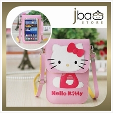 Hello Kitty PU Sling Bag Touch Screen Smartphone Mobile Pouch