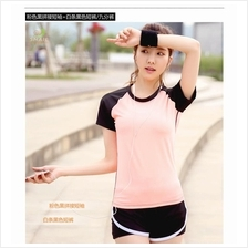 Short Sleeve Fast Dry Gym Sports Yoga Jogging T-Shirt (ST5)