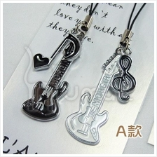 Music Guitar Variety Notes Lovely Couple Handphone Strap (2 per set)