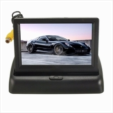 Car Wireless IR Rearview Backup Reversing Camera Kit Foldable LCD 4.3