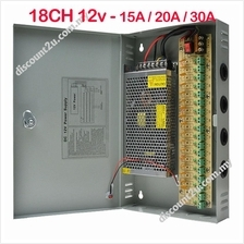 Power Supply Box 12V 10A For CCTV Camera with DC Cable