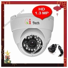Qi Tech CCTV LED IR Dome Camera 1/3' Day & Night View - HD 960P 1.3MP