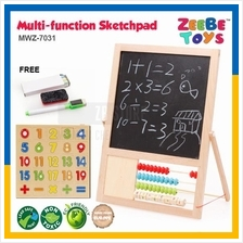 ZEEBE TOYS Multi-function Count Beads Double-sided Magnet Sketchpad