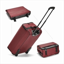 Case Valker Foldable Travel Luggage Trolley With 2 Wheels (Maroon)