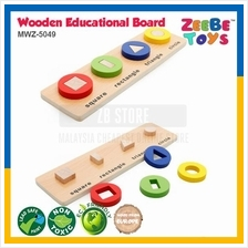 ZEEBE TOYS Wooden Brick Educational Toy Learning Polygon Color MWZ5049