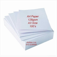 100pcs A3 Art Paper 128gsm Double Side Glossy