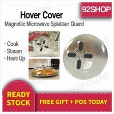 Hover Cover Magnetic Microwave Splatter Lid with Steam Vents BPA Free
