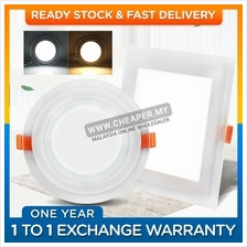 LED Glass Panel Ceiling Recessed Light 12W /18W / Round / Square / War