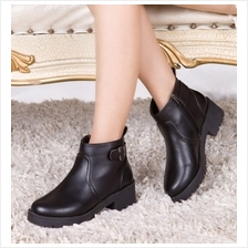 MT016447 Retro Women''s Cotton Padded Martin Boots Shoes