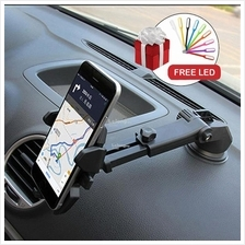 (free led) 360 Rotating Car Windshield Dashboard Phone Holder Mount