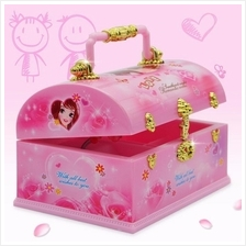 Portable Rotating Ballet Treasure Box & Jewelry Case Mirror Music Box
