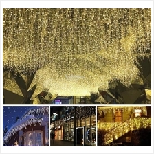 5M 216 LED Curtain Light Icicle String Christmas Raya Party Decor