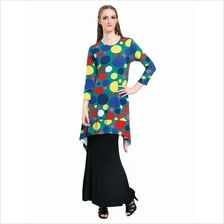 Fashion Polka Dots Asymmetric Big Top