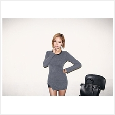 Trendy Asymmetric Slim Long Sleeve Top