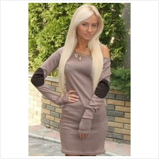 Fashion European Off Shoulder Long Sleeve Mini Dress