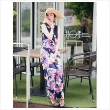 Fashion Bohemian Floral Design Long Maxi Dress