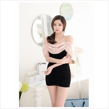 Fashion Sexy Off Shoulder Short Slim Mini Dress