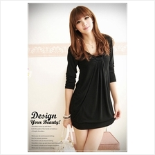 Fashion 3/4 Long Sleeves Tunic Dress