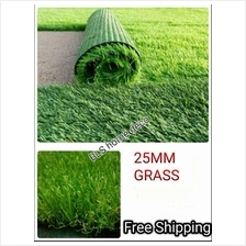 25mm DIY ARTIFICIAL GRASS ROLL (2M X 25M) FAKE SYNTHETIC RUMPUT
