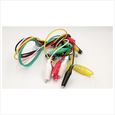 Crocodile clip wire (10 PCS, 50 cm, 28*24 mm head)