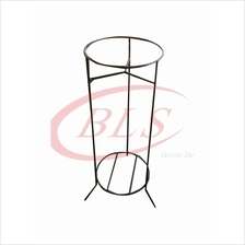 TWO LAYER H 84 CM IRON FLOWER POT STAND RACK MULTI LEVEL PLANTS
