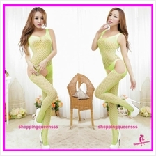 Fishnet Body Stocking Green Hosiery OpenCrotch Sexy Lingerie Sleepwear