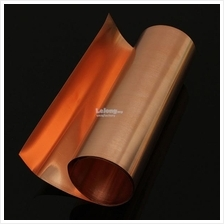 99.9% Pure Copper Metal Sheet Foil Plate 0.1 x 200 x 1000 mm