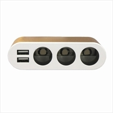 Car Charger - 3 Socket Adapter Harga Price Malaysia | Dual USB Interfa