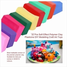 32 Pcs Soft Effect Polymer Clay Plasticine DIY Modelling Craft Art Toy