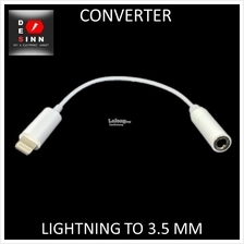 (Tested IOS11) Lightning to 3.5mm Female Adapter Iphone 6/6S/7