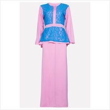 Fashion Half Button Lace Design Jubah Dress (Including Shawl) e90ca06d96