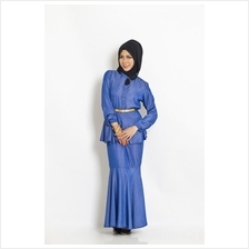 Fashion 2-Piece Modern Jubah Dress Peplum Top & Skirt (Without Shawl)