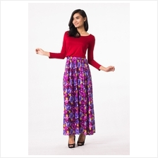 Fashion Two-Piece Joint Floral Design Modern Jubah Dress 42b5af138f