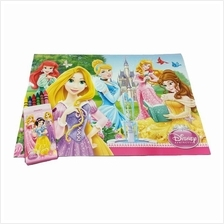 DISNEY PRINCESS FOUNTAIN COLORING BOOK WITH CRAYON SET