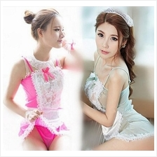 Lace Maid Costume Cosplay Set Lingerie Sleepwear (2 Colors)