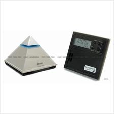 SEIKO QHL054S Pyramid Auto Speaking Alarm Clock Silver new old stock