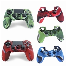 Camouflage Silicone Case Skin Grip Cover For Playstation 4 PS4 Control..