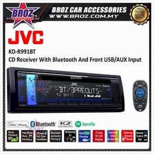 JVC KD-R991BT 1-DIN CD Receiver with Bluetooth(R) Wireless Technology