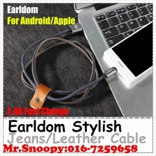 Original Earldom Jean/Leather Fast Charge Phone Data Charging Cable
