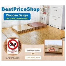 Wood Design Non Toxin Eva Soft Foam Exercise Gym Yoga Floor Kids Mat