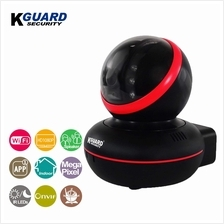 KGuard Security 1080P WiFi Pan/Tilt IP Camera with Night Vision Black
