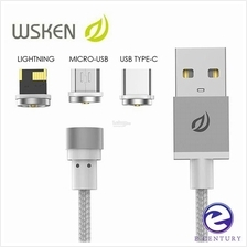 WSKEN Micro USB/ Apple iPhone/ Type C 2.1A Round Magnetic X-Cable