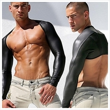 0202 PVC LEATHER MEN SUIT (Ready Stock)
